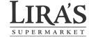 A theme logo of Lira's Supermarket